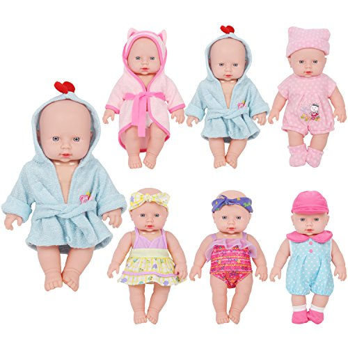 4b28c5a392ac4 Huang Cheng Toys For 12-inch Alive Baby Doll Set of 6 Handmade Lovely  Bathrobe Dress Barbie Clothes Outfits Costumes