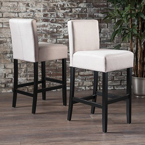 Christopher Knight Home 300880 Prim Backed Fabric Barstools Set of 2 Wheat ,