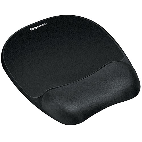 Fellowes Memory Foam Mouse Pad/Wrist Rest, Black (9176501) ()