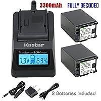 Kastar Ultra Fast Charger Kit + Battery for Canon BP-828 BP-820 VIXIA GX10 XF400 XF405 HFG30 HFG40 HFM30 HFM31 HFM32 HFM301 HFM40 HFM41 HFM400 HF11 HF20 HF21 HF200 HG20 HG21 XA10 XA20 XA25 XA30 XA35