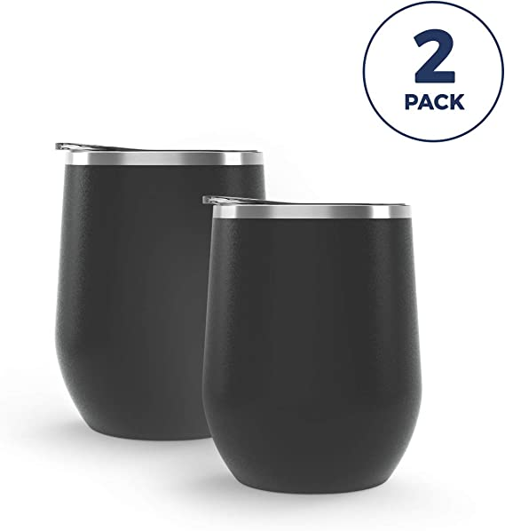 Maars Bev Steel Stemless Wine Glass Tumbler