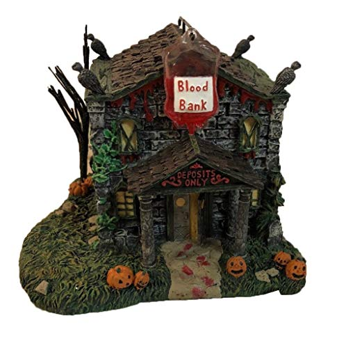 Hawthorne Village Universal Studios Munsters Collection The Blood Bank and Trust Collectible Halloween House Display -