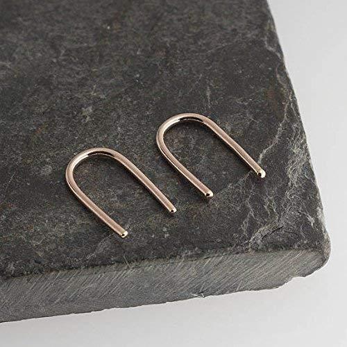 Wishbone Rings Gold (U Line Earrings, Rose Gold Earrings, Line Arc Earrings, Minimalist Arc Earrings, Horseshoe Earrings, Wishbone Earrings, RGF-R-13X1-ARC-18GA)