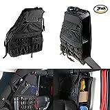 Lantsun 2 x Multi-Pockets Storage&Roll Bar Bag Holder Cargo Bag for Jeep Wrangler JK Unlimited 4DR 07-17(J083) 2 Yr Warranty