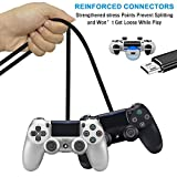 PS4 Controller Charging Cable,SCOVEE Micro USB