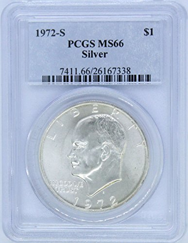 1972 S Eisenhower Ike Dollar $1 MS66 PCGS