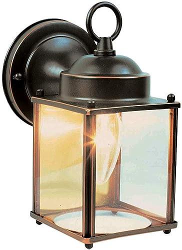 Design House 506576 Coach 1 Light Indoor Outdoor Wall Light, Oil Rubbed Bronze