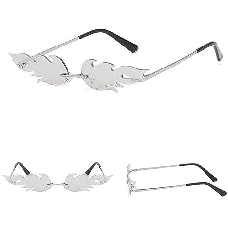BovoYa Gafas de Sol para Mujer Gafas de Sol Fire Flame Gafas ...