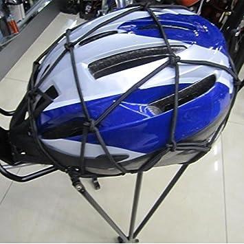 Black Jzhen Safe Cargo cord Net Bungee Luggage Mesh Heavy-duty Elasticate Multi-Purpose motorbike net bag with Adjustable Hooks for Motorcycle Bike