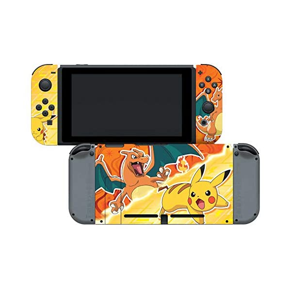 Controller Gear Nintendo Switch Skin & Screen Protector Set - Pokemon - Pikachu Vs Charizard Set 1 - Nintendo Switch 6