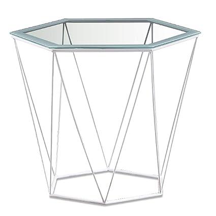 Glass Hexagon Coffee Table 1
