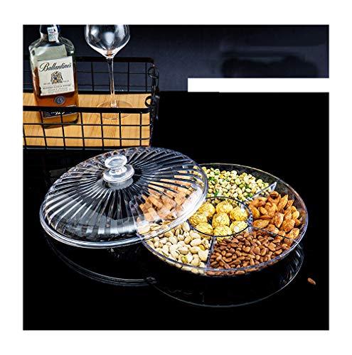 PANGU-ZC Fruit Basket Fruit Plate Dried Fruit Fruit Dish Fruit Tray Compartment Bag Comport Nut -14 banana hanger (Color : Clear, Size : S)