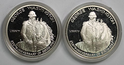 1982 S Lot of Two George Washington Commemorative Birth AU