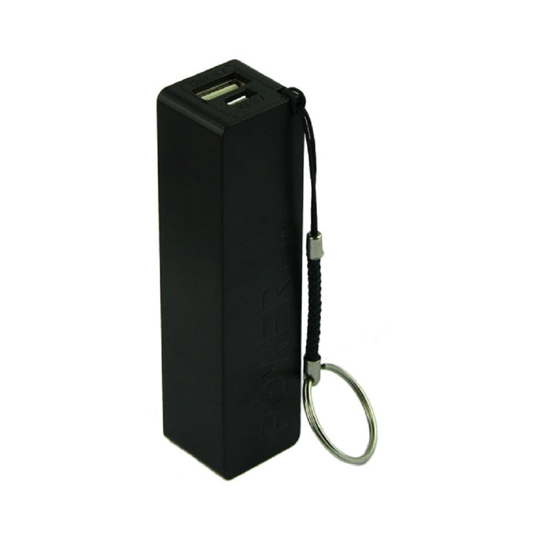 Perman Portable Power Bank 18650 Battery External Backup Battery Charger With Key Chain (Black)