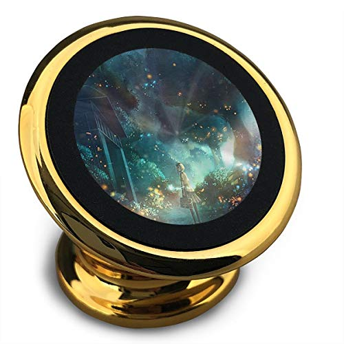Happy Index Fireflies and Girls Universal 360° Rotation Magnetic Car Mount Cell Phone Holder for iPhone, IPad, Samsung Galaxy S9/S8 and More Smartphones, Yellow