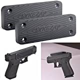 KEZAY Gun Magnet Mount 2 Pack(48-lb. Hold) Concealed Carry Firearm Holder | Pistols, Handguns, Shotguns, Rifles | Home, Vehicle, Car, Truck, Desk Mounted Holster