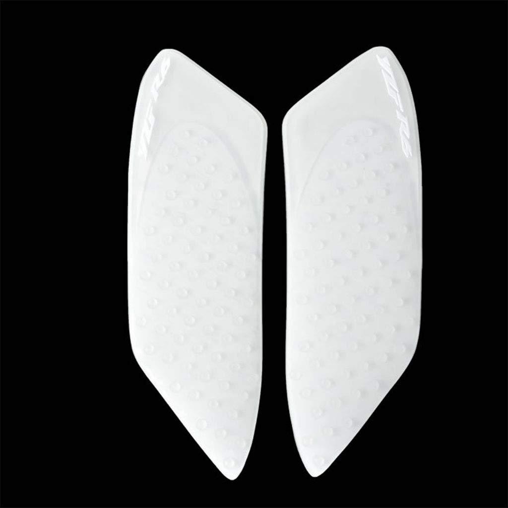 Lato adesivo antiscivolo moto Serbatoio gas Pad ginocchio Fuel ginocchio grip Protector per Yamaha YZF R6 2006-2007 (Bianco) ST0020