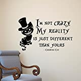 good looking cat wall decals Alice in Wonderland Cheshire Cat Wall Decals, E-Scenery Peel and Stick DIY 3D Wall Stickers Mural Art Wallpaper for Kids Room Home Nursery Wedding Party Window Decor, Black