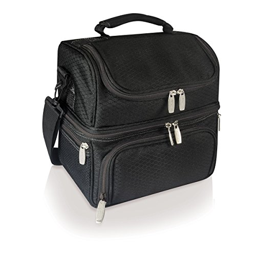 picnic-time-pranzo-insulated-lunch-tote-black