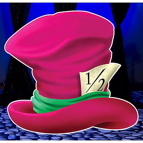 5 ft. 2 in. Wonderland Hat Standee Standup Photo Booth Prop Background Backdrop Party Decoration Decor Scene Setter Cardboard Cutout