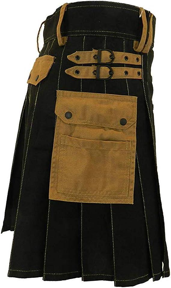 Puimentiua Falda Escocesa para Hombre Kilt Tradicional Escocés de ...