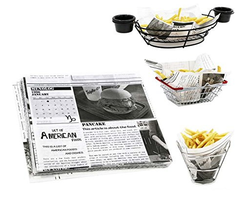 Mannily Food Grade Tissue Paper Food Basket Liners - Newsprint 200 sheets 8.66