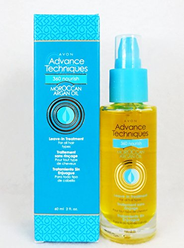 Avon Advance Techniques Moroccan Argan Oil Leave-in Treatment Bottle All Hair Types - Avon Perfume Collectables