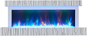 ZXYY Electric Fireplace Liu, Multi-Color Wall Heater Core Simulation Electronic Flame Simulation LED Flame European Style Decoration Stove Core