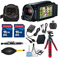 Canon VIXIA HF R82 HFR82 Camcorder with 2 pieces 16GB Memory Cards & Deluxe Accessory Bundle - International Version