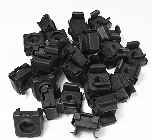 RackGold Black M6 Cage Nuts 25 Pack - USA Made