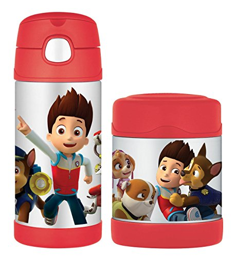 Paw Patrol Thermos 12 Ounce Funtainer Bottle and Ounce Funtainer Food Jar