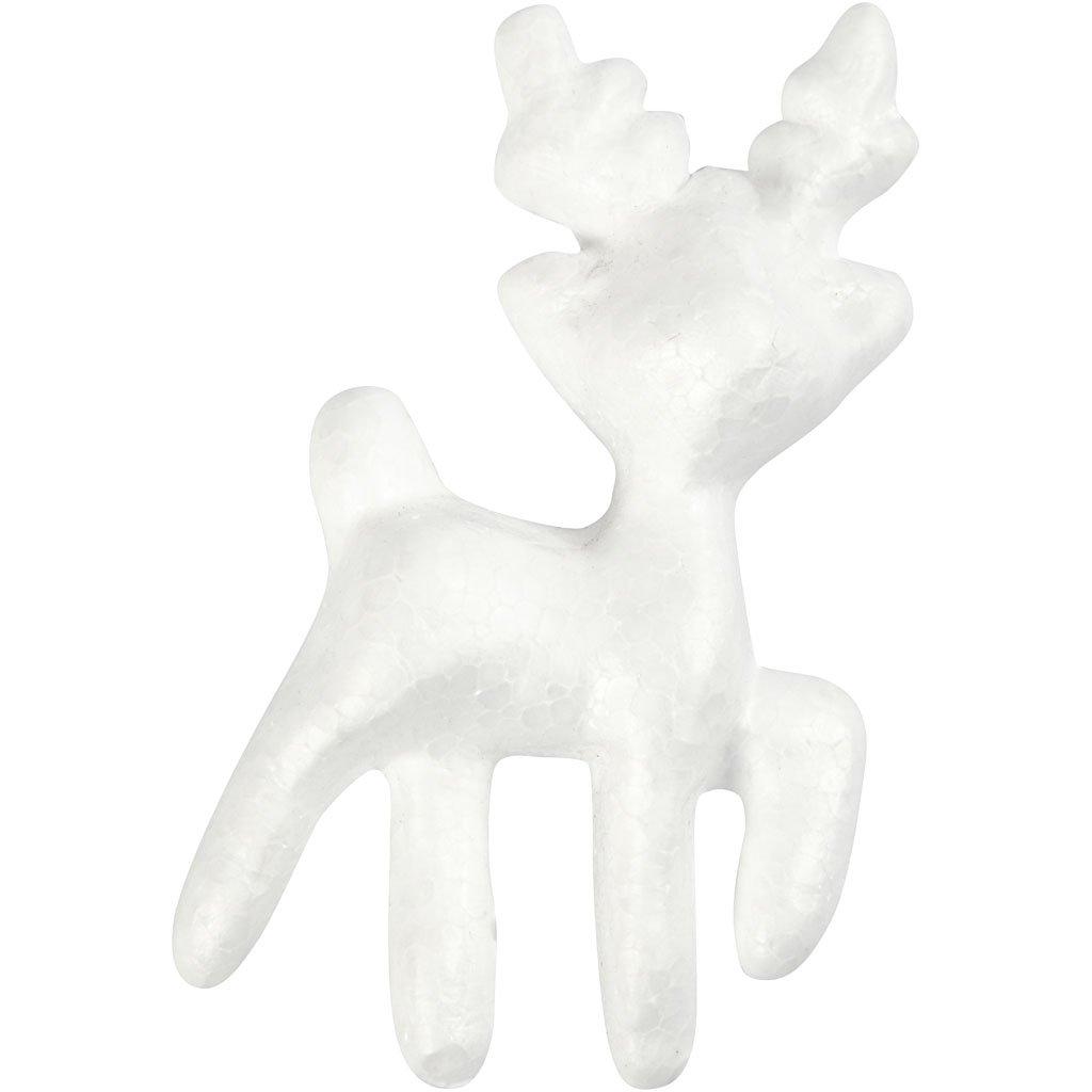 Renna in polistirolo, H: 11,5 cm, bianco, 5pz Creativ Company