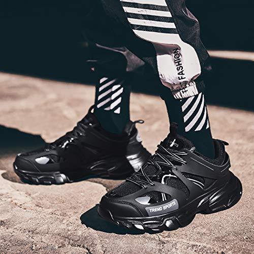 Black Piso Montaña Funcionamiento Mzq Césped Acolchado Deportivo Artificial Hombre Campo Ligero Color yq Algodón Baja Calzado De Sólido 0P0qT4O