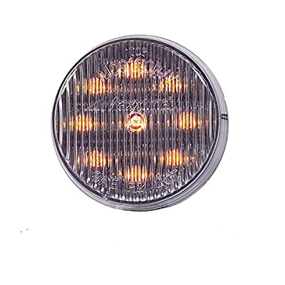 """Maxxima M09100YCL 9 LED Amber 2"""" Clear Lens Clearance Marker Light: Automotive"""