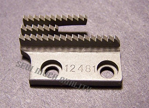 FEED DOG # 12481 Fits Most Industrial Single Needle Lockstitch Machines - Feed Single Needle Lockstitch