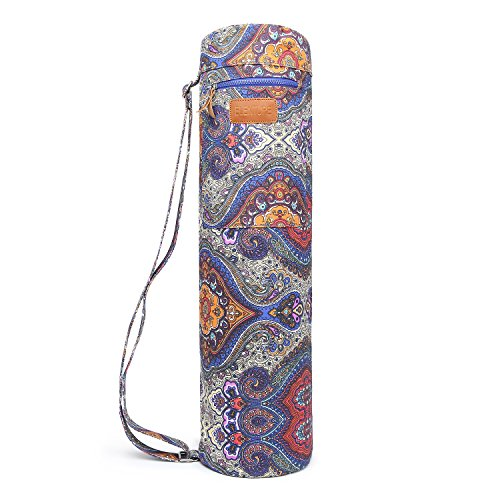 ELENTURE Canvas Yoga Sling Bag with Multi-Functional Storage Pockets (Celestial)