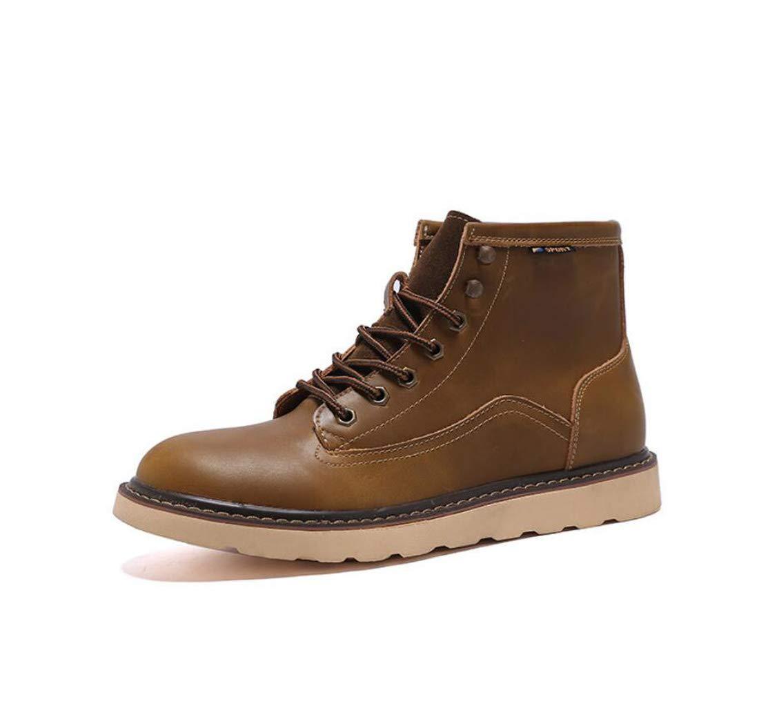 メンズマーティンブーツイギリスヴィンテージブーツカジュアル秋冬のブーツ,Brown,38EU   B07H16FCHP