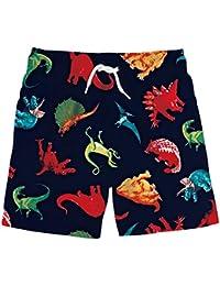 Boys 3D Printed Funny Swim Trunks Quick Dry Beachwear Sports Running Swim Board Shorts