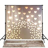 MEHOFOTO 6x8ft Love Heart Pattern Photography Backdrops Wood Floor Valentine's Day...