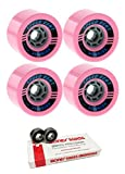 85mm Seismic Skate Systems Speed Vent Defcon Longboard Skateboard Wheels with Bones Bearings - 8mm Bones Swiss Skateboard Bearings - Bundle of 2 items