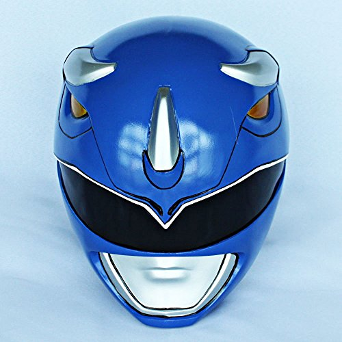 1:1 Halloween Costume Cosplay Mighty Morphin Power Ranger Helmet Mask Blue PR14 (Mighty Morphin Power Ranger Helmet)