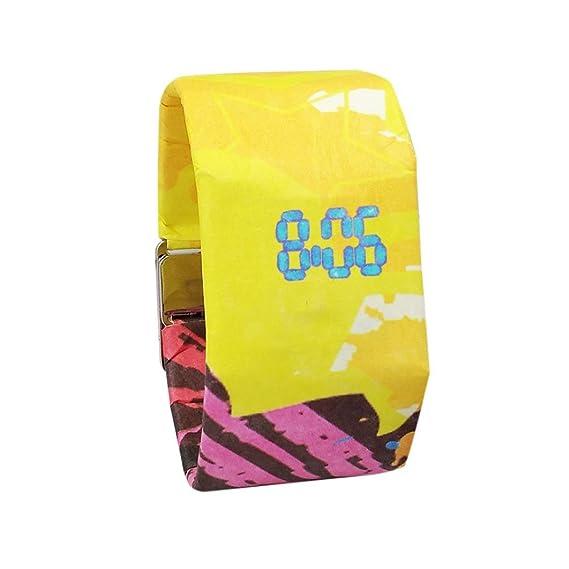 Digital Wrist Paper Watch for Women and Men, Iuhan Creative Paper Watch LED Waterproof Clock