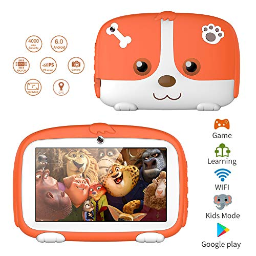 Kids Tablets,7inch HD Touch Screen Kids Tablet for Kids 1G+8G  Android Tablet Quad Core Kids Tablets with WiFi , Parental Control, 40+ Learning,Training Games APPs, Protect kids Eyes