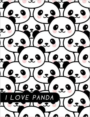 I Love Panda: Journal (A Composition Book Diary)(8.5 x 11 Jumbo Large size)
