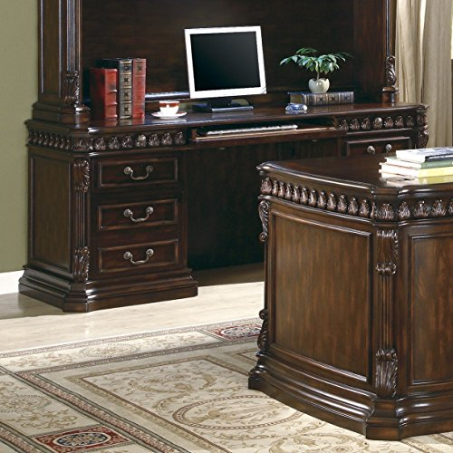 Tucker Double Pedestal Credenza Desk Rich Brown