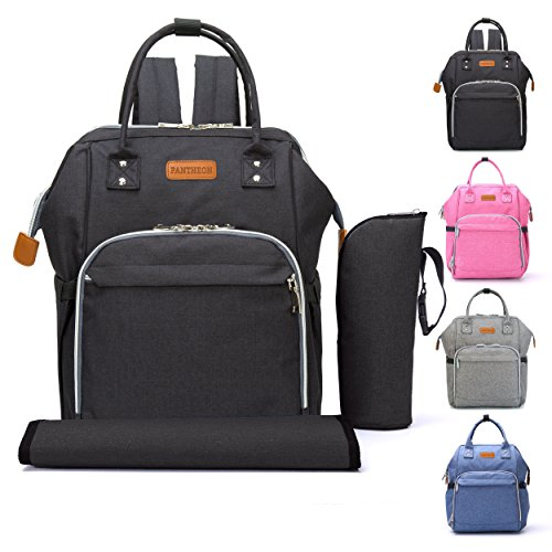 Diaper Backpack Bag with Wide Open Design, Changing Pad, Ins