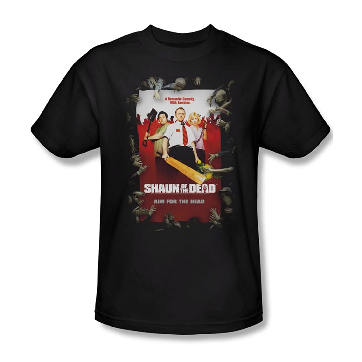 Shaun Of The Dead - Mens Poster T-Shirt In Black