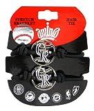 MLB Colorado Rockies Stretch Bracelet & Hair Tie, 2-Pack