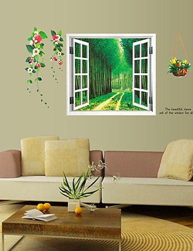 SYX adesivi murali adesivi murali legno di stile bella pvc paesaggi ...