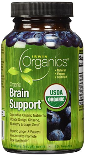 Irwin Naturals Organic Brain Support Diet Supplement, 60 Count -